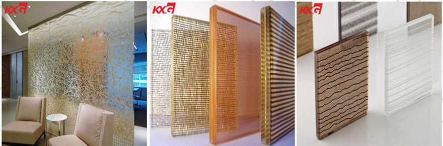What are the commonly used decorative glass?